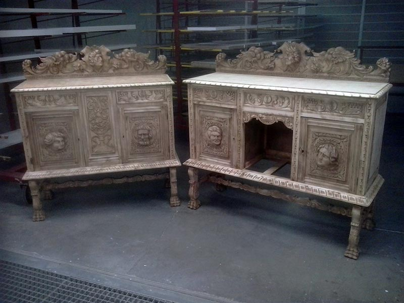 Restauracin de muebles antiguos en El Monasterio Del Olivar